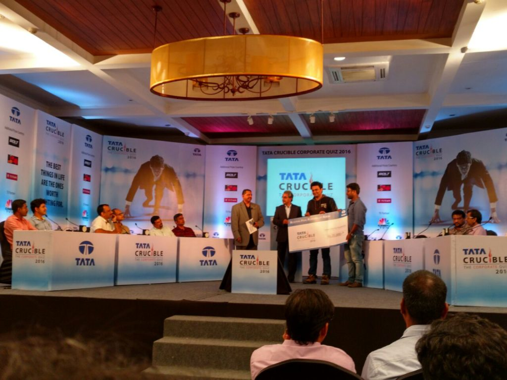 Tata Crucible Corporate Edition 2016 Cochin Runners up