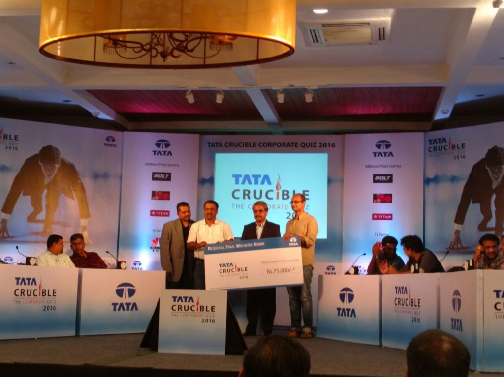 Tata Crucible Corporate Edition 2016 Winners